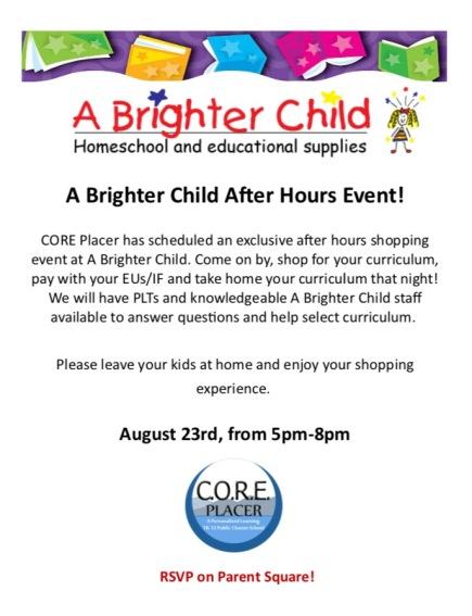 Brighter Child Event Facebook