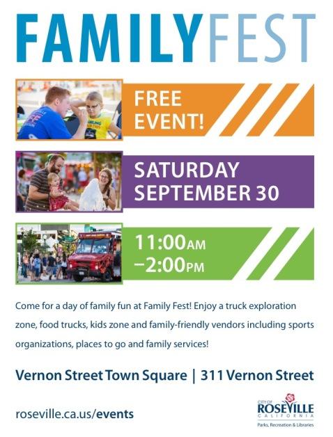 Roseville Family Fest Flyer