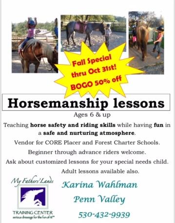 Horsemanship Lessons Flyer