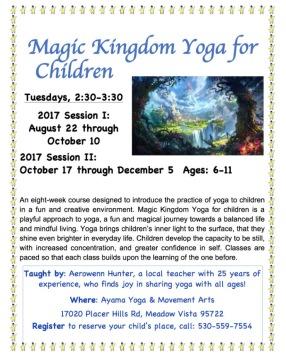 Magic Kingdom Yoga Flyer