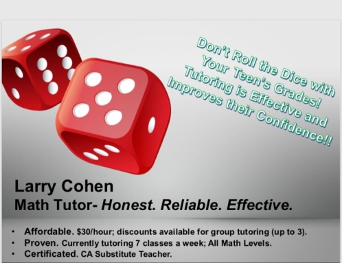 Tutoring Larry Cohen Flyer