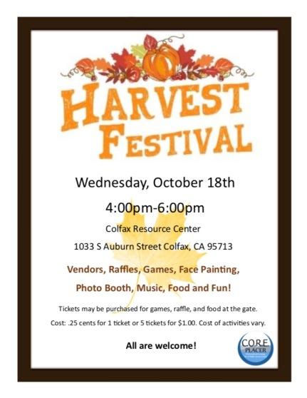 Harvest Festival Flyer