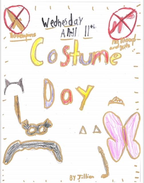 Elementary Spirit Day Costume Day